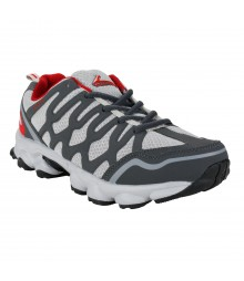 Vostro Grey Red Sports Shoes for Men - VSS0040