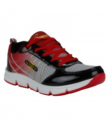 Vostro Grey Red Sports Shoes Speed for Men - VSS0069