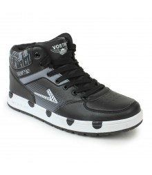 Vostro Black Casual Shoes for Men - VSS0122