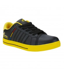 Vostro B169 Black Yellow Men Casual Shoes VSS0152