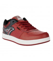 Vostro Red Black Silver Casual Shoes for Men - VSS0159