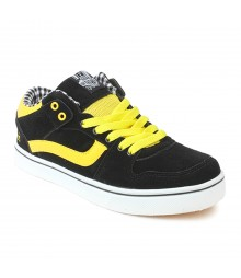 Vostro Black Yellow Casual Shoes for Men - VSS0170
