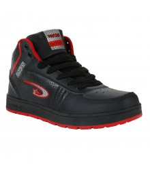 Vostro Black Red Sports Shoes for Men - VSS0171