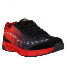 Vostro Black Red Sports Shoes for Men - VSS0173