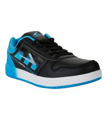 Vostro Black Lake Blue Sports Shoes for Men - VSS0190