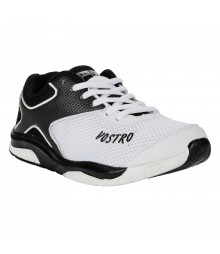 Vostro White Black Sports Shoes for Men - VSS0202