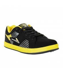 Vostro Black Yellow Sports Shoes for Men - VSS0206