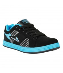 Vostro Black Lake Blue Sports Shoes for Men - VSS0218