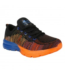 Vostro Black Sports Shoes Flyknit for Men - VSS0273