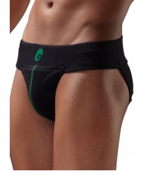 Neo supporter Back Covered Jockstraps Black