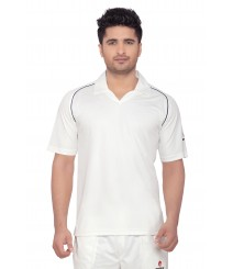 Mesh Terra Fit Cricket Whites T-Shirt (Half Sleeves) OMTshirts-009