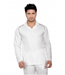 Mesh Terra Fit Cricket Whites T-Shirt (Full Sleeves) OMTshirts-010